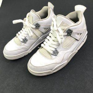 Air Jordan 4 White Youth Men's Size 7 Shoes